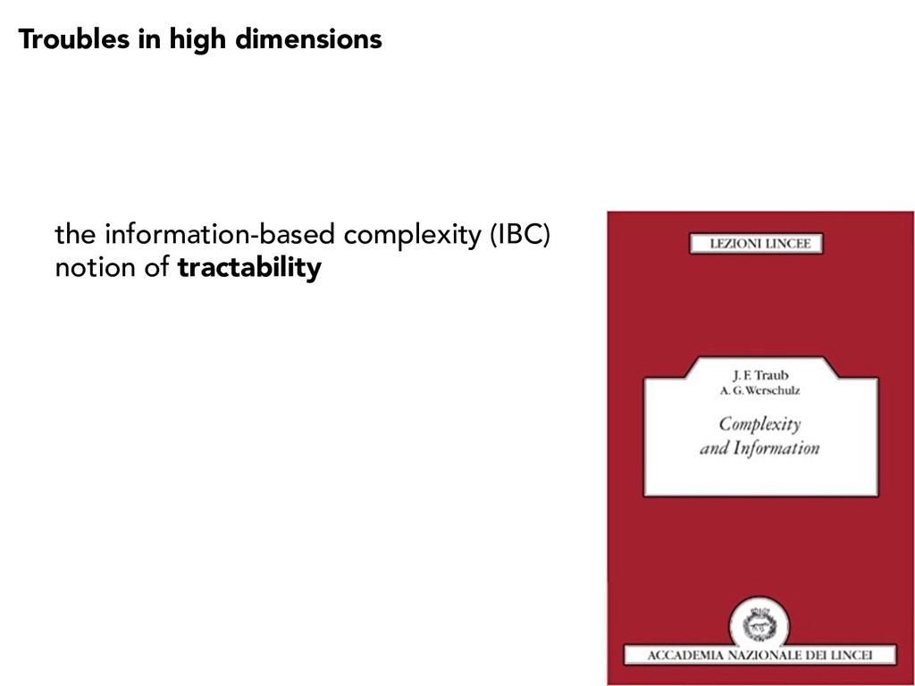 Troubles in high dimensions the information-bas...