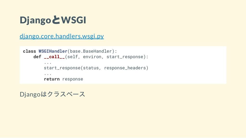 Django とWSGI django.core.handlers.wsgi.py class...