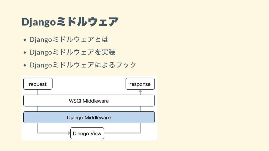 Django ミドルウェア Django ミドルウェアとは Django ミドルウェアを実装 ...