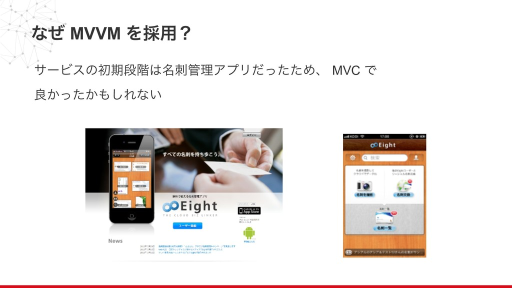 ͳͥ MVVM Λ࠾༻ʁ αʔϏεͷॳظஈ֊໊ཧΞϓϦͩͬͨͨΊɺ MVC Ͱ ྑ͔ͬ...