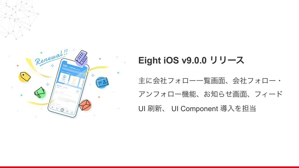 Eight iOS v9.0.0 ϦϦʔε ओʹձࣾϑΥϩʔҰཡը໘ɺձࣾϑΥϩʔɾ ΞϯϑΥ...