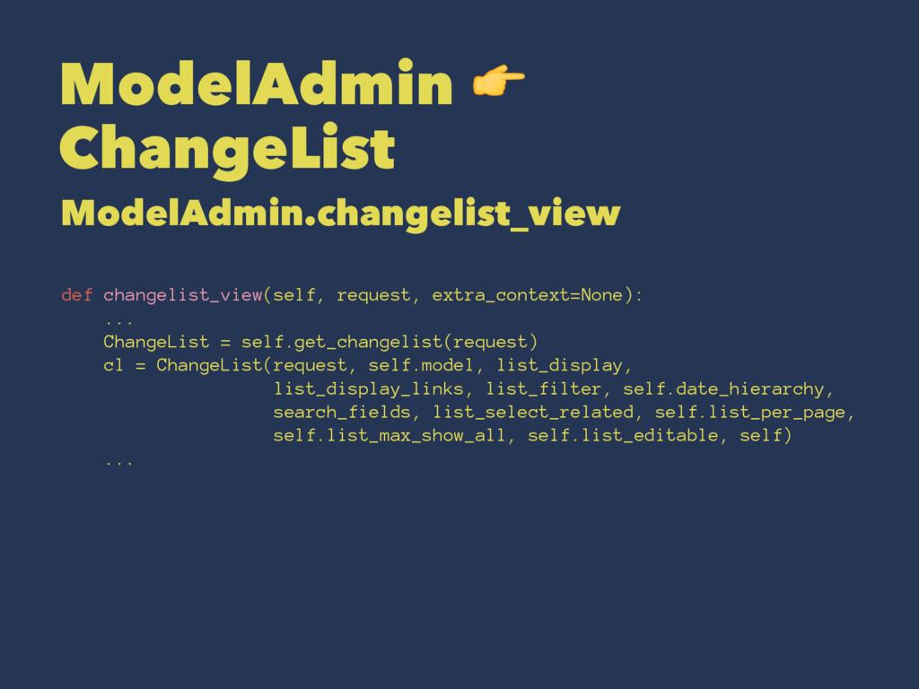 ModelAdmin ! ChangeList ModelAdmin.changelist_v...