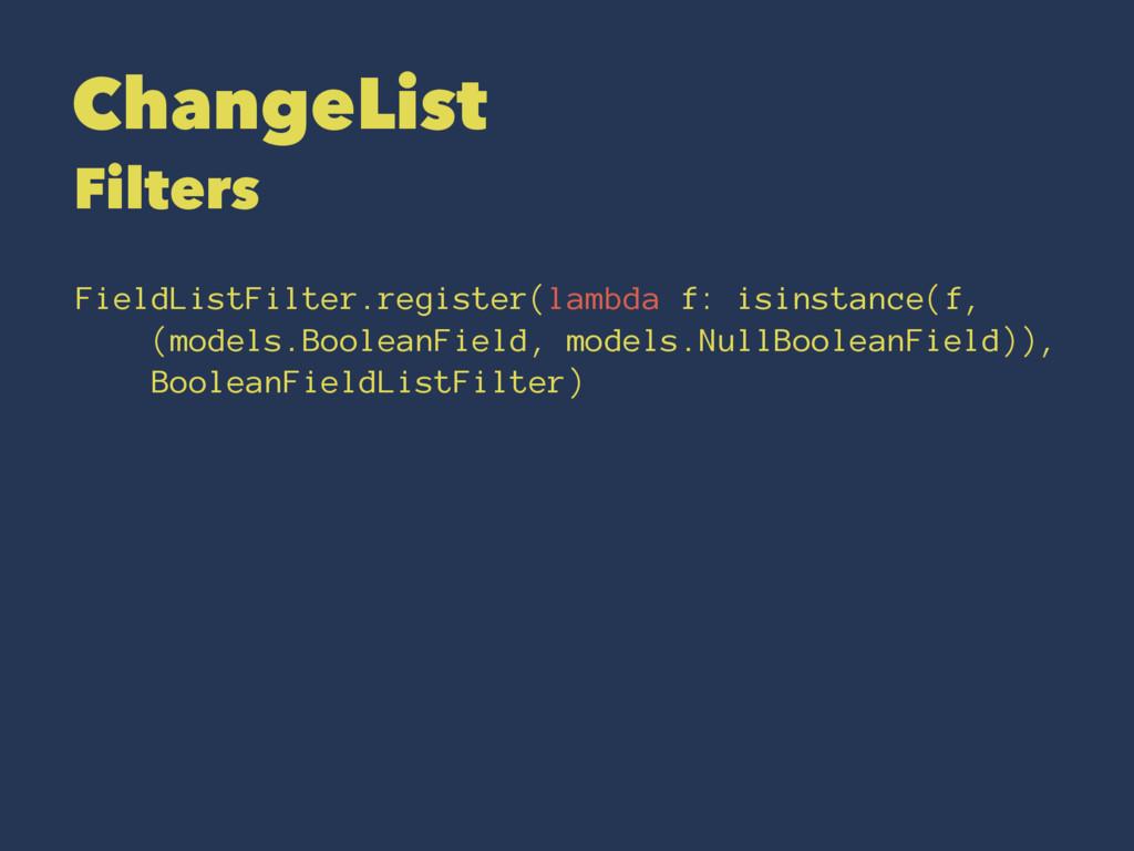 ChangeList Filters FieldListFilter.register(lam...