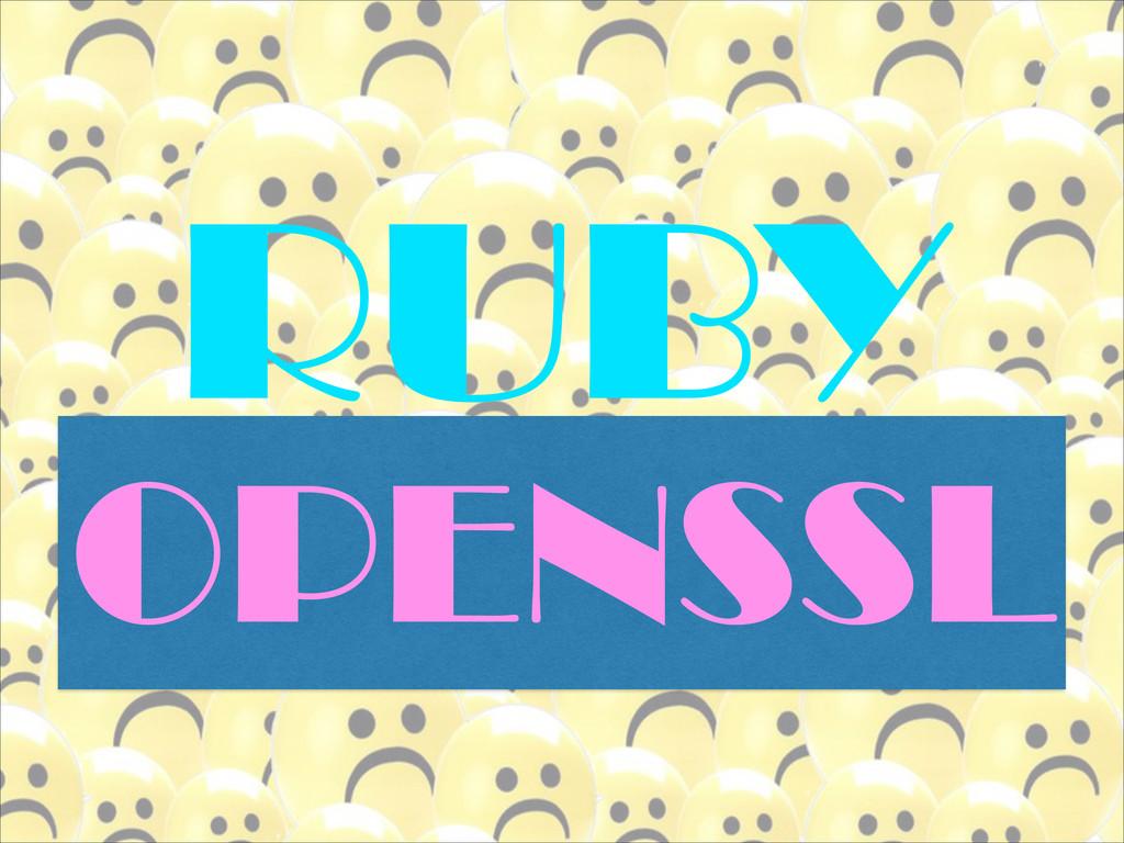 RUBY OPENSSL