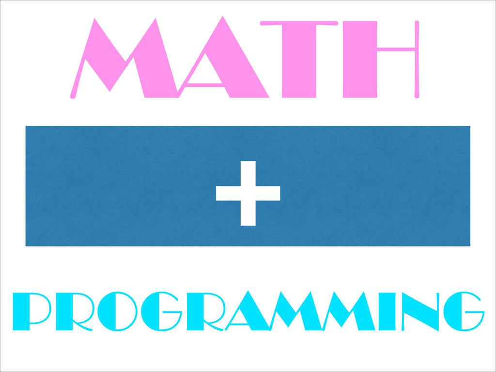 MATH + PROGRAMMING
