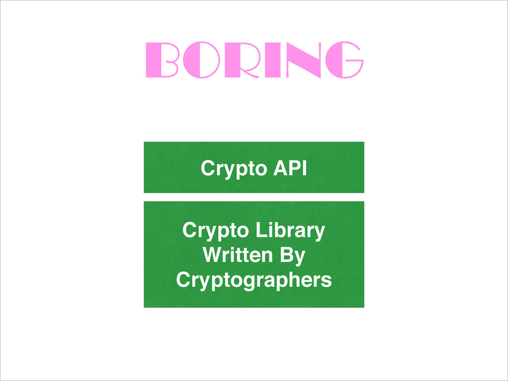 BORING Crypto Library Written By Cryptographers...
