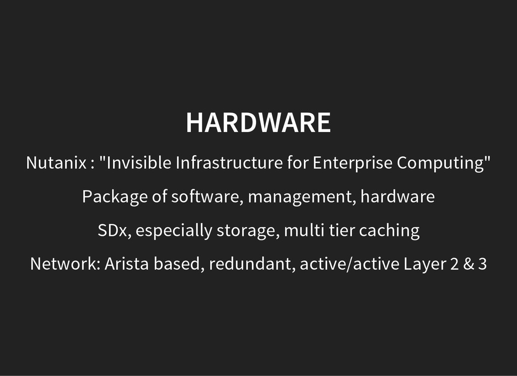 """HARDWARE Nutanix : """"Invisible Infrastructure fo..."""