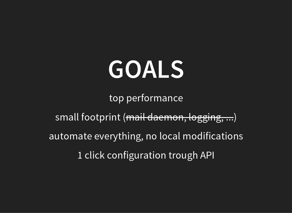 GOALS top performance small footprint (mail dae...