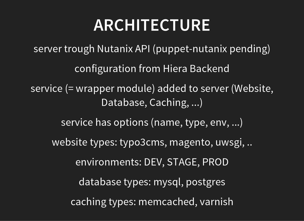 ARCHITECTURE server trough Nutanix API (puppet-...