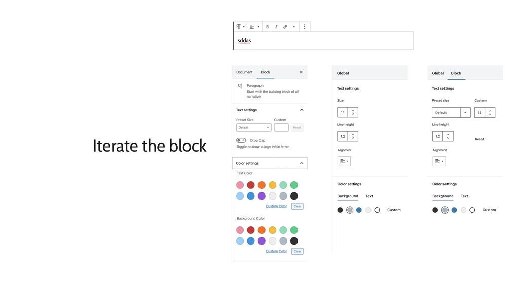 Iterate the block