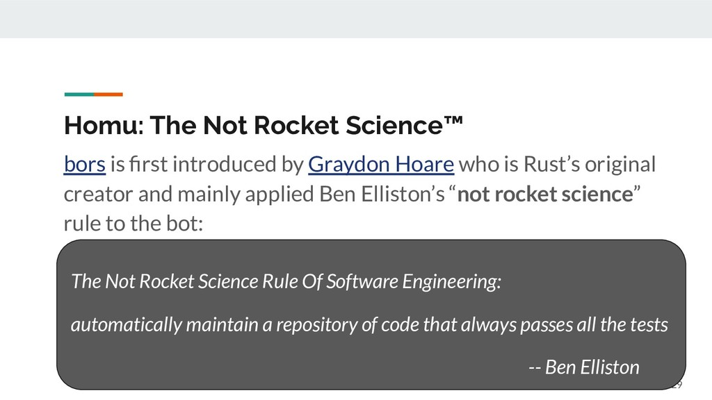 Homu: The Not Rocket Science™ bors is first intr...