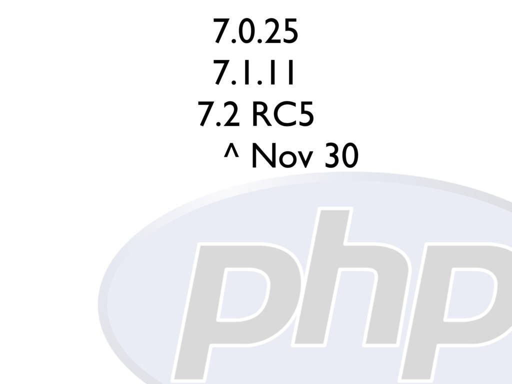 7.0.25 7.1.11 7.2 RC5 ^ Nov 30
