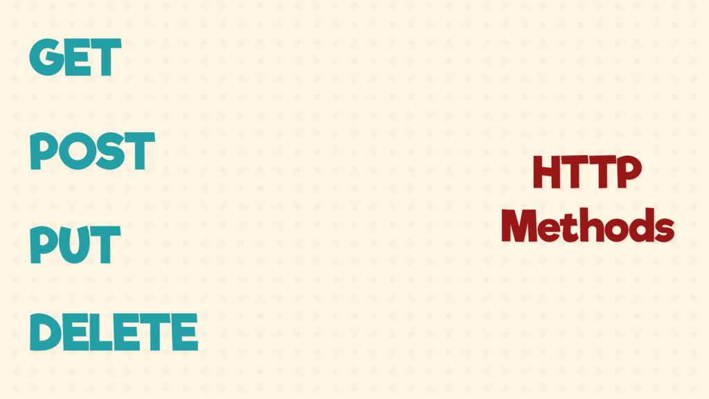 GET POST PUT DELETE HTTP Methods