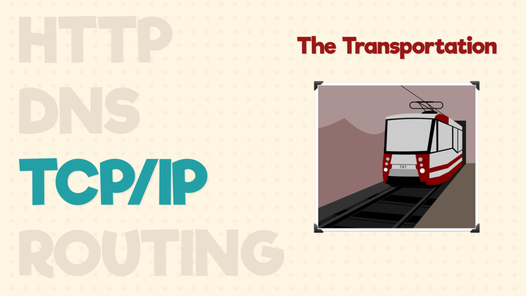 The Transportation HTTP DNS TCP/IP ROUTING