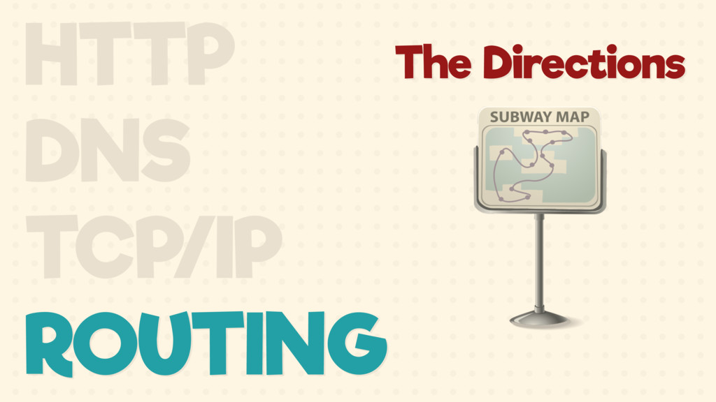 The Directions HTTP DNS TCP/IP ROUTING