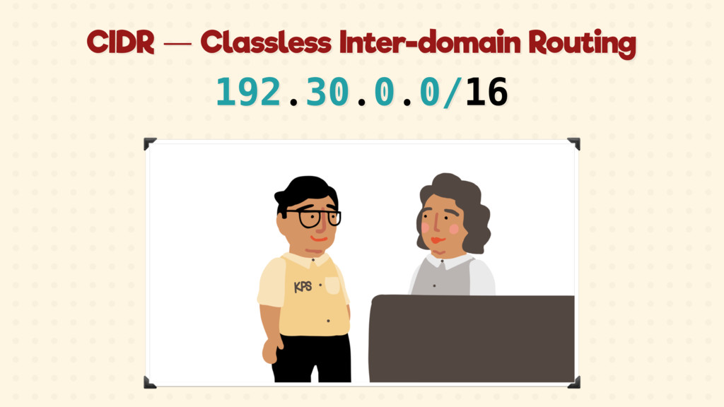 CIDR — Classless Inter-domain Routing 192.30.0....