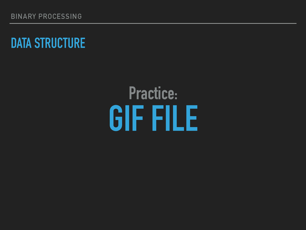 BINARY PROCESSING DATA STRUCTURE GIF FILE Pract...
