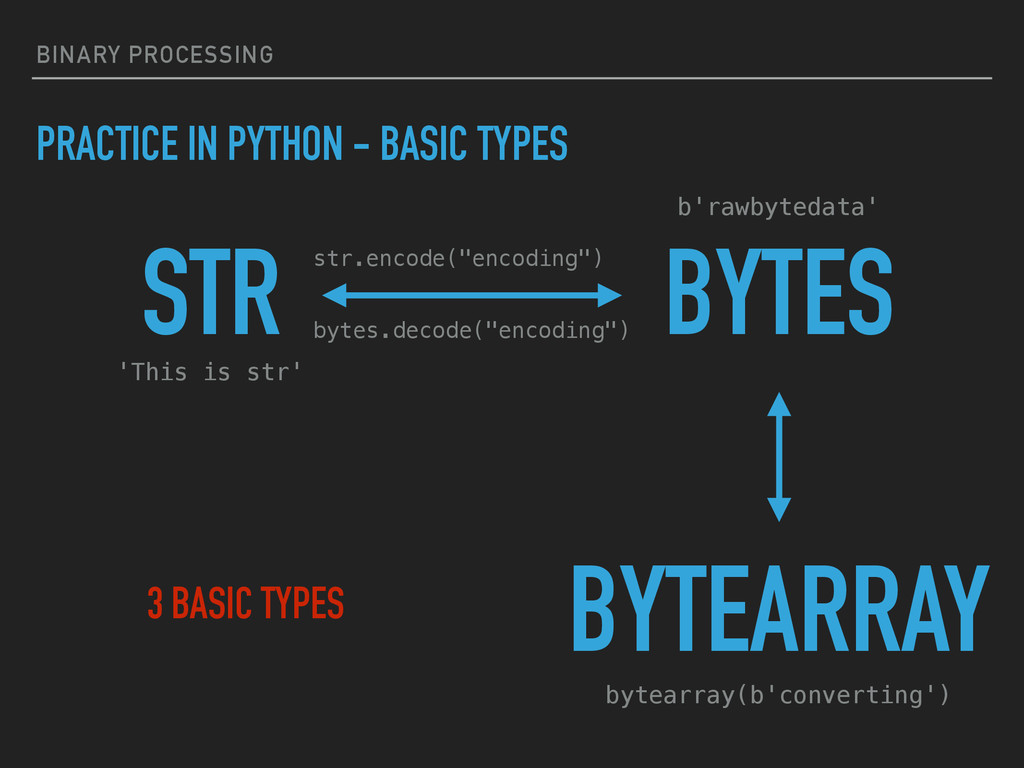 BINARY PROCESSING PRACTICE IN PYTHON - BASIC TY...