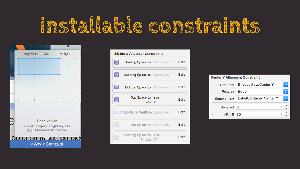 installable constraints