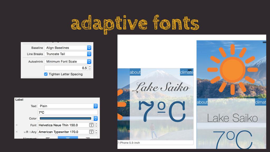 adaptive fonts