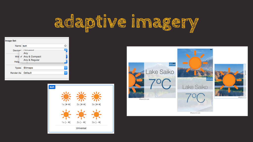 adaptive imagery