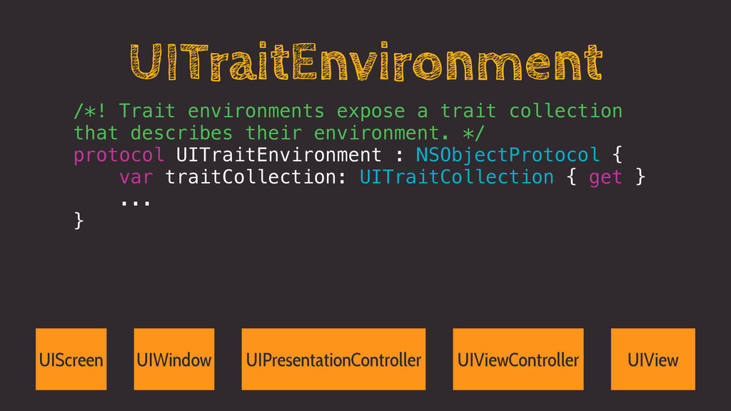 UITraitEnvironment /*! Trait environments expos...