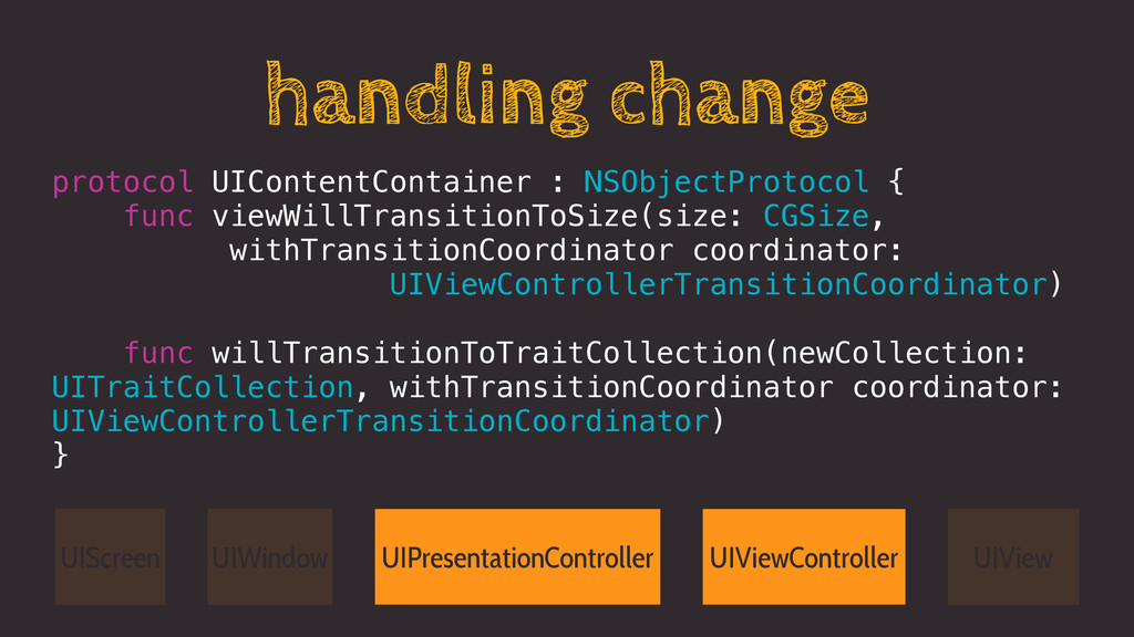 handling change protocol UIContentContainer : N...