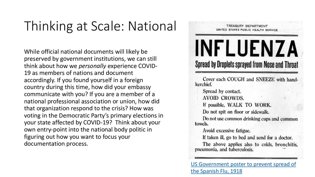 Thinking at Scale: National While official nati...