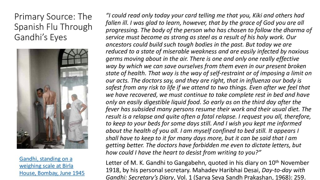 Primary Source: The Spanish Flu Through Gandhi'...