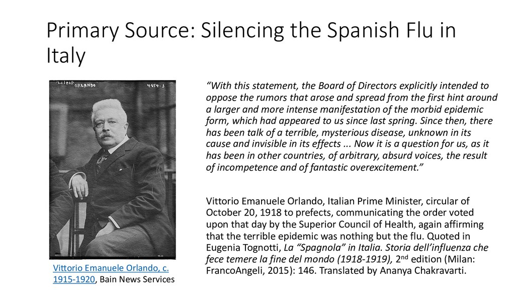 Primary Source: Silencing the Spanish Flu in It...