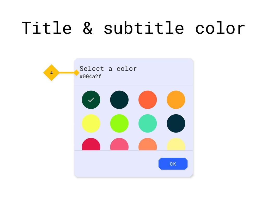 Title & subtitle color 4