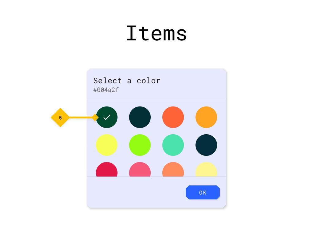 Items 5