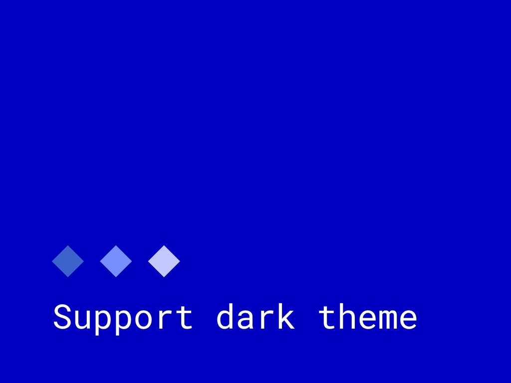Support dark theme