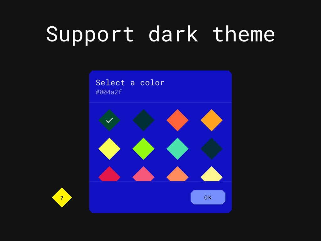 Support dark theme 7