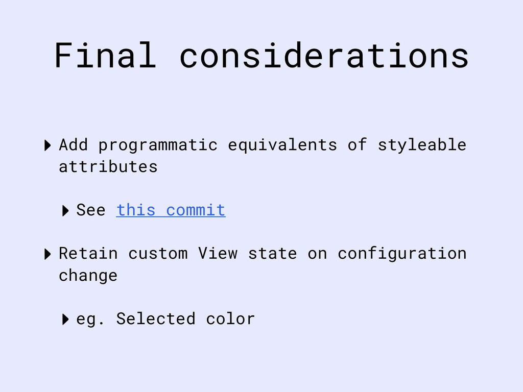 Final considerations ‣ Add programmatic equival...