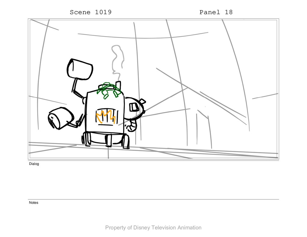 Scene 1019 Panel 18 Dialog Notes Property of Di...