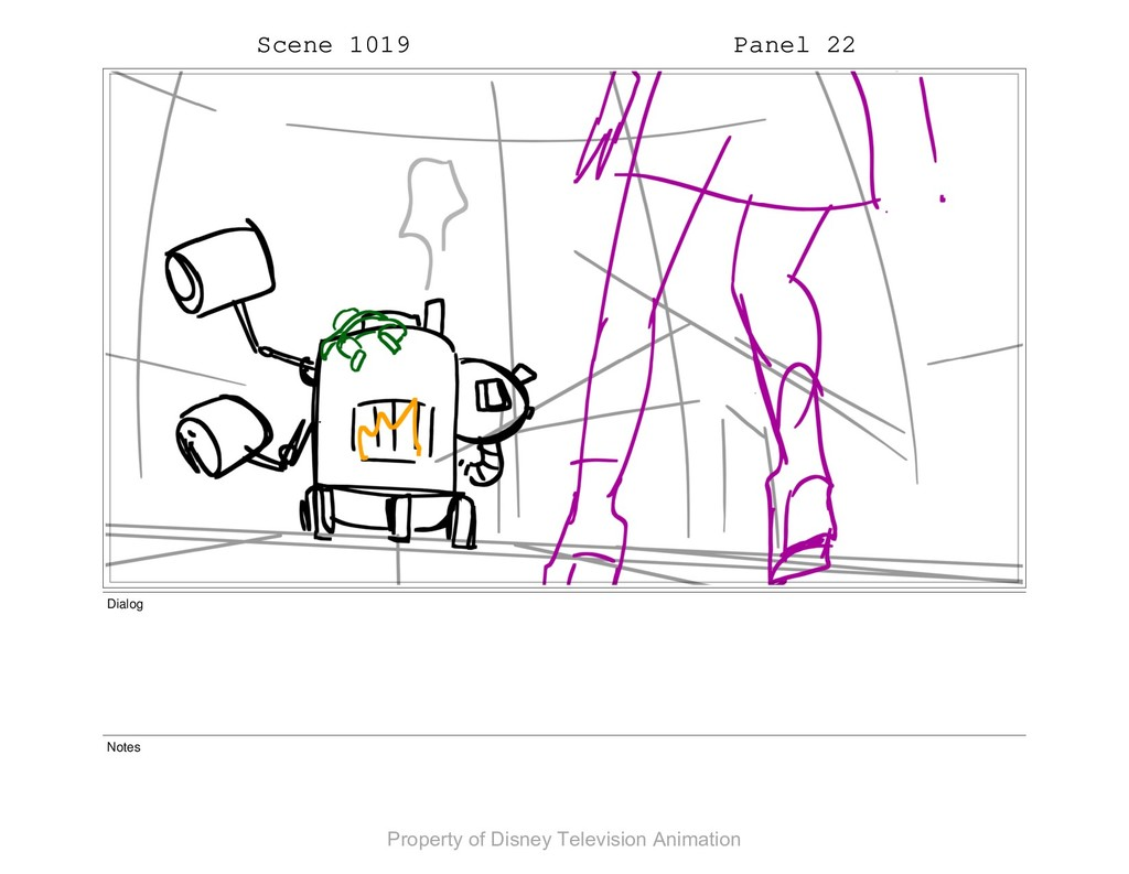 Scene 1019 Panel 22 Dialog Notes Property of Di...