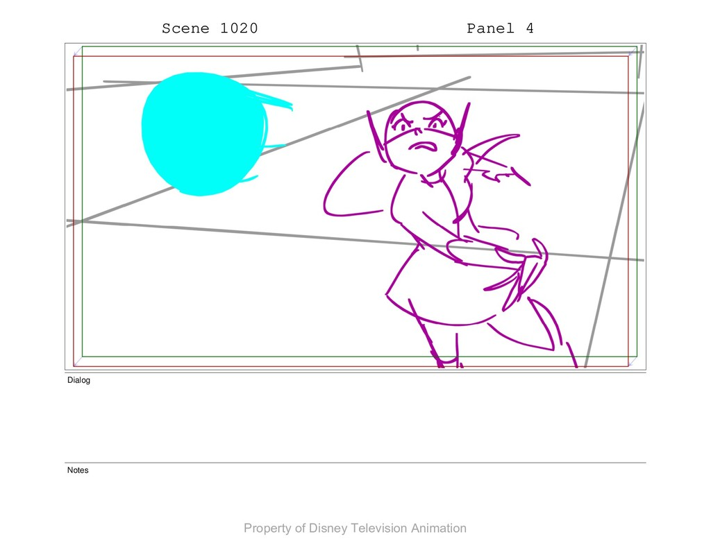 Scene 1020 Panel 4 Dialog Notes Property of Dis...