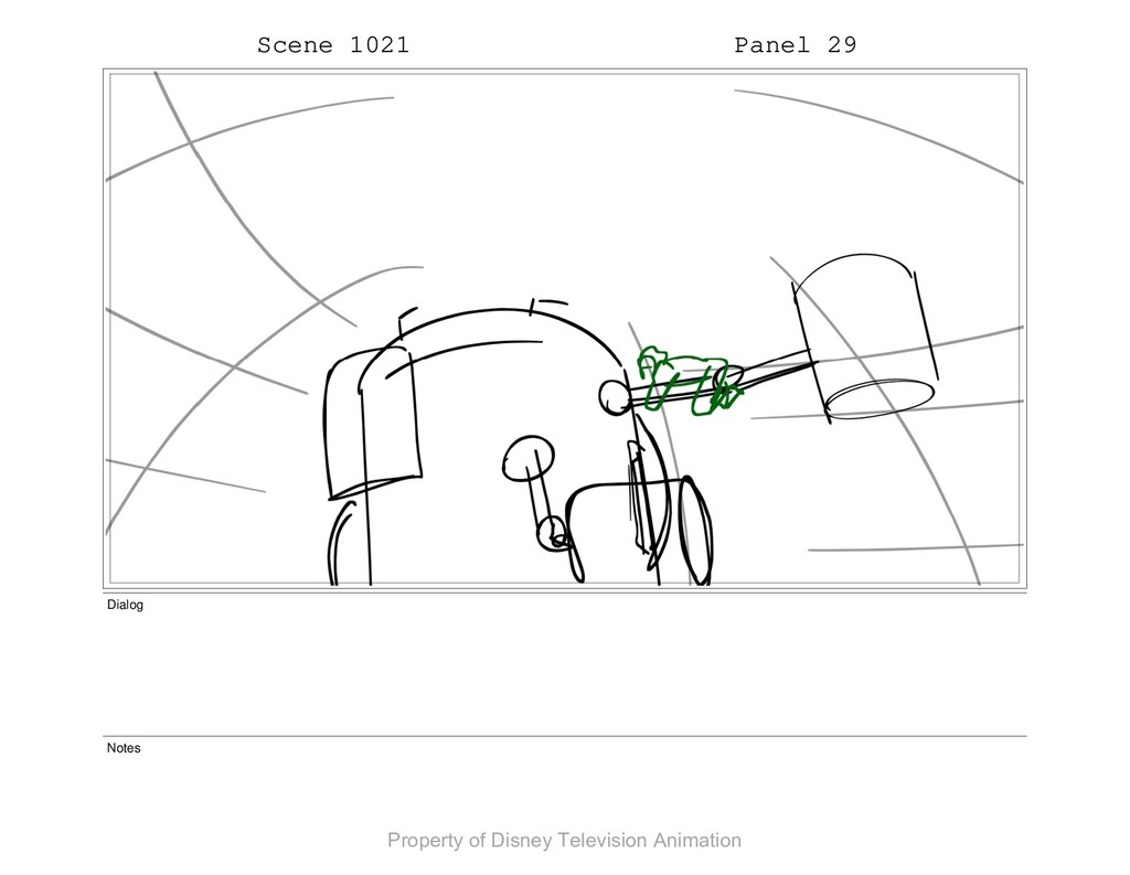 Scene 1021 Panel 29 Dialog Notes Property of Di...