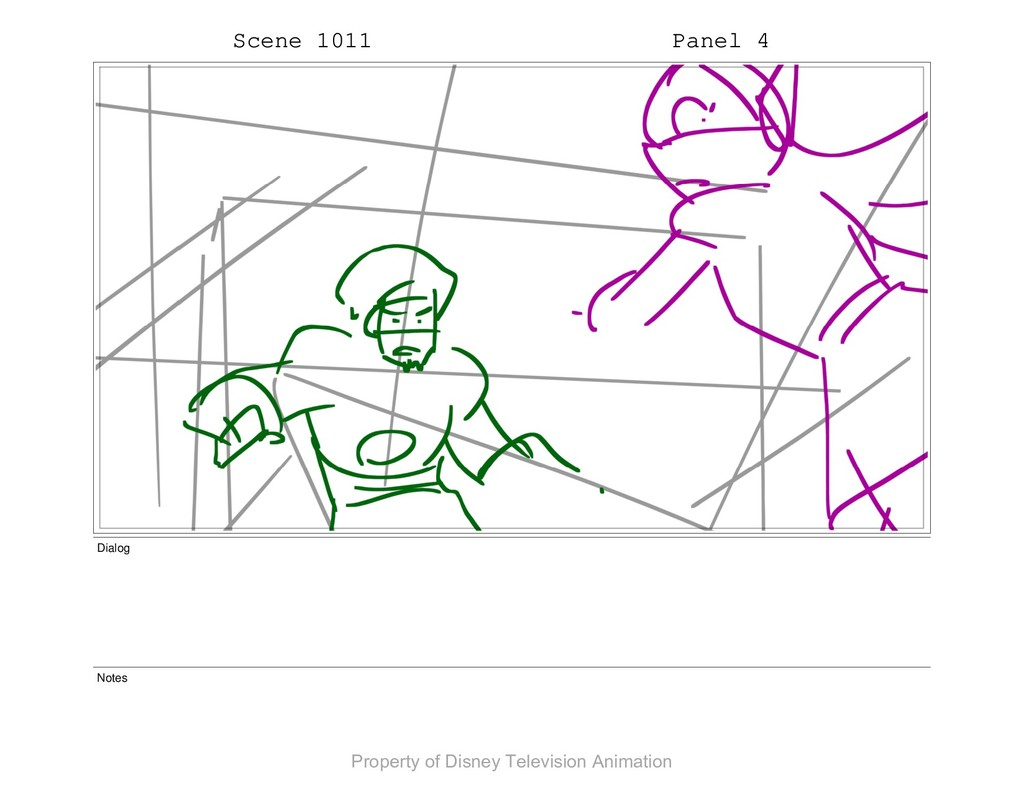 Scene 1011 Panel 4 Dialog Notes Property of Dis...