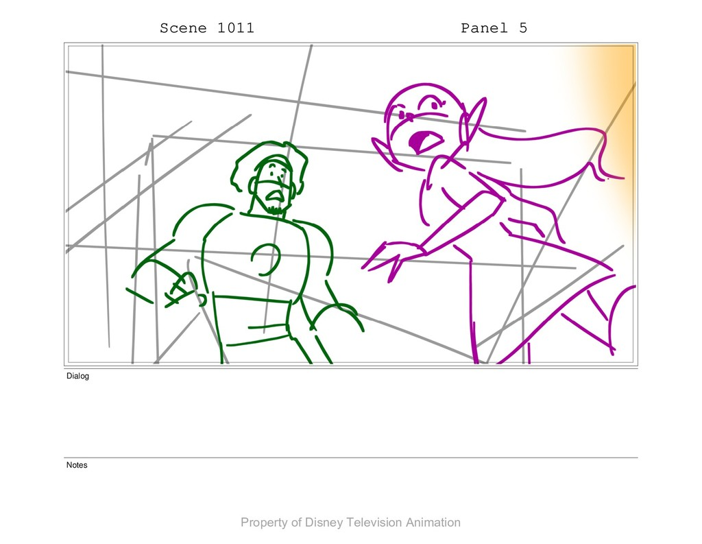 Scene 1011 Panel 5 Dialog Notes Property of Dis...