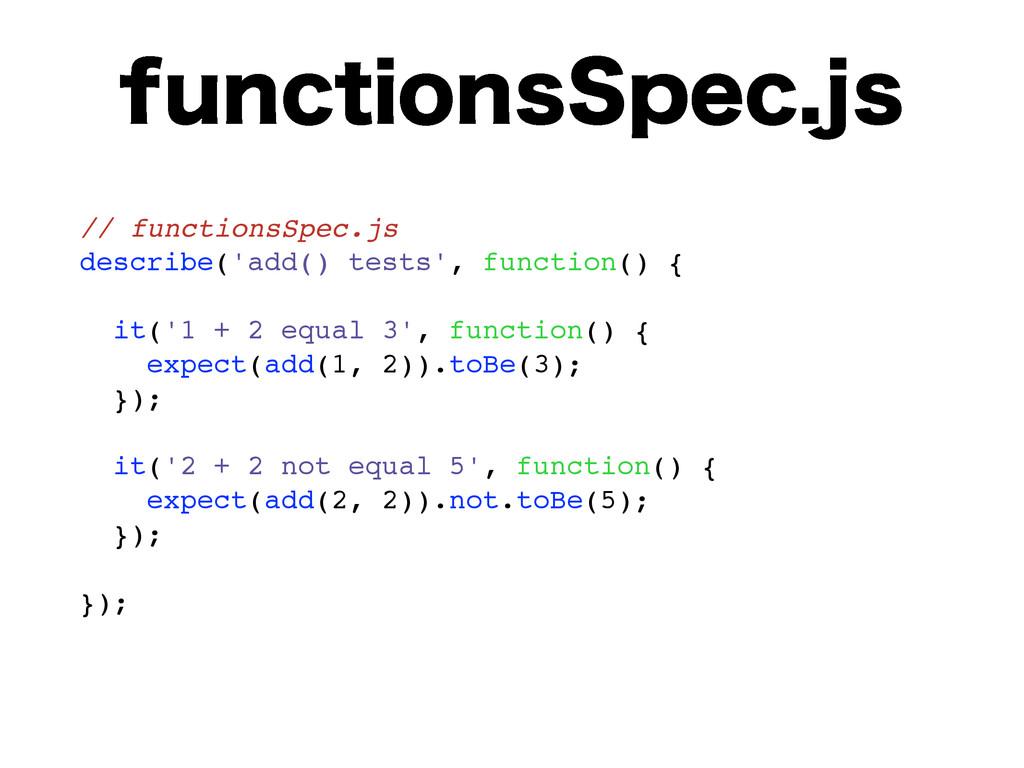 GVODUJPOT4QFDKT // functionsSpec.js describe('...