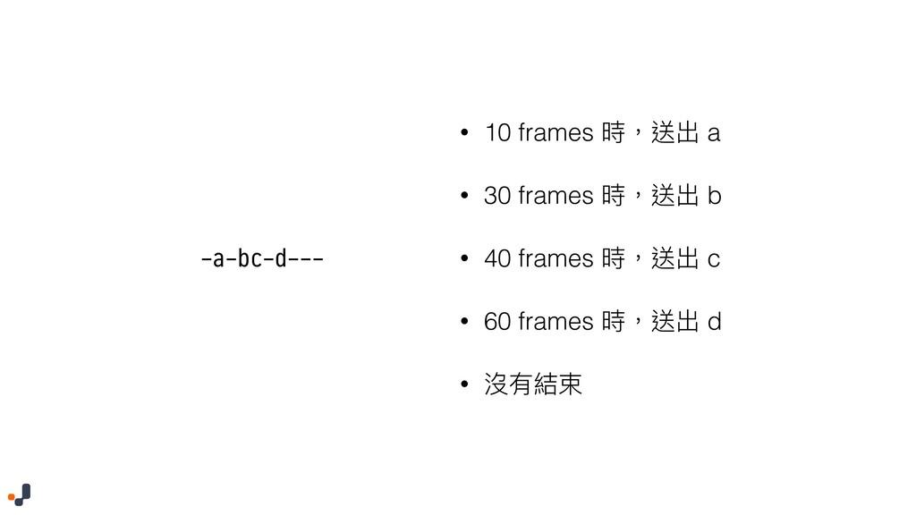 -a-bc-d--- • 10 frames 碻牧蝑ڊ a • 30 frames 碻牧蝑ڊ ...