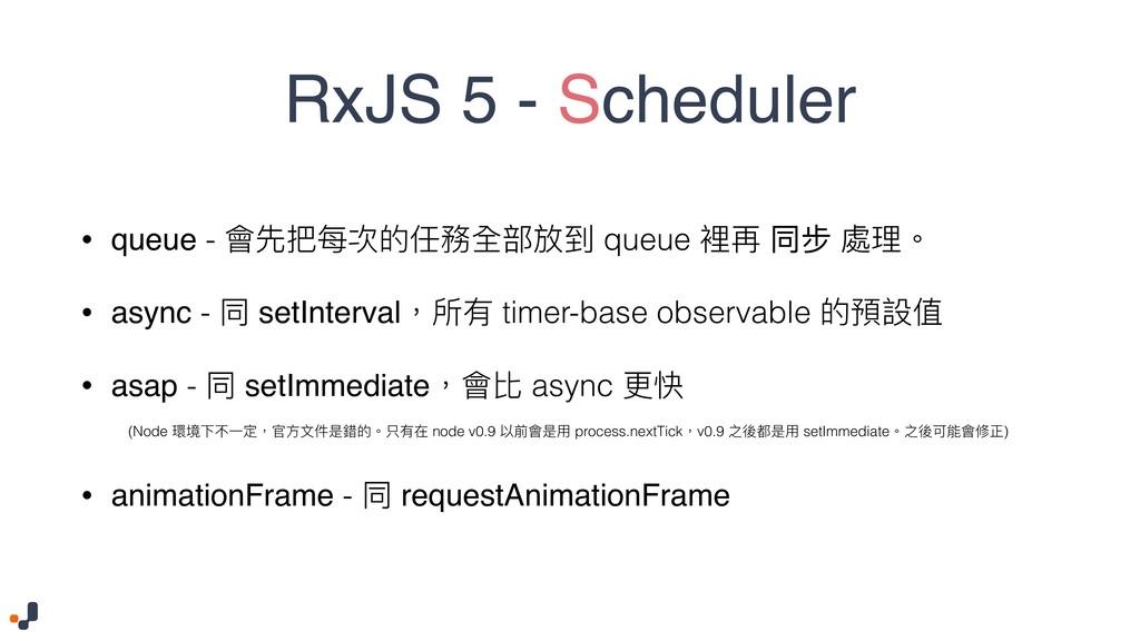 RxJS 5 - Scheduler • queue - 䨝ضྯ稞ጱ犨率獊蟂硯ک queue...