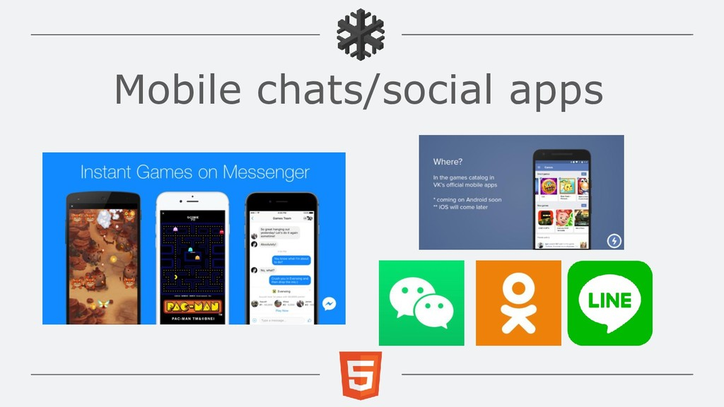 Mobile chats/social apps