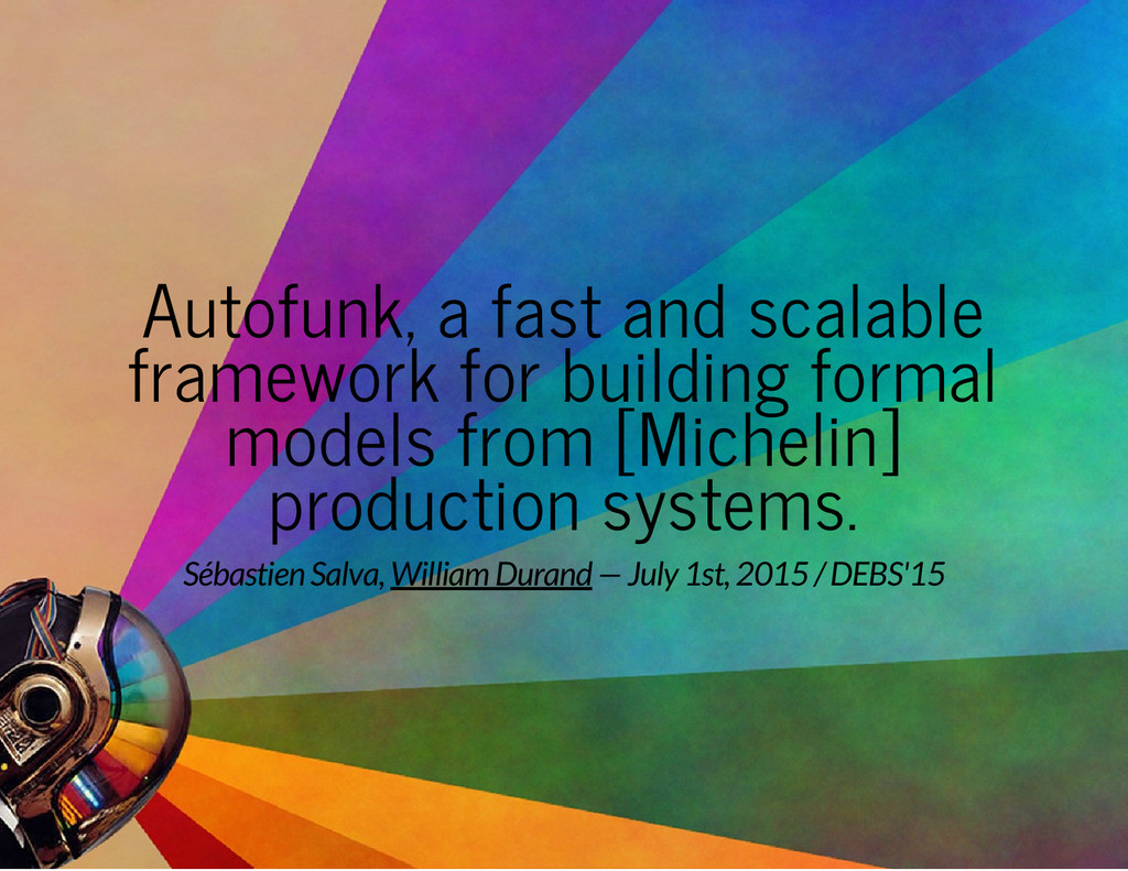Autofunk, a fast and scalable framework for bui...