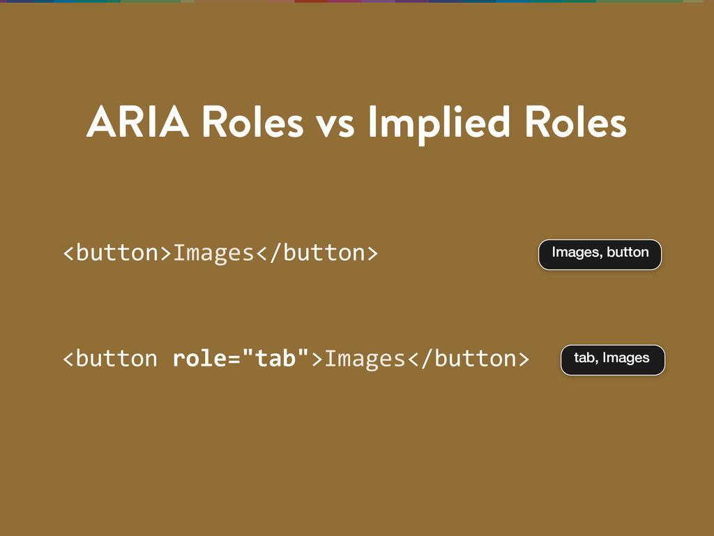 ARIA Roles vs Implied Roles <button>Images</but...