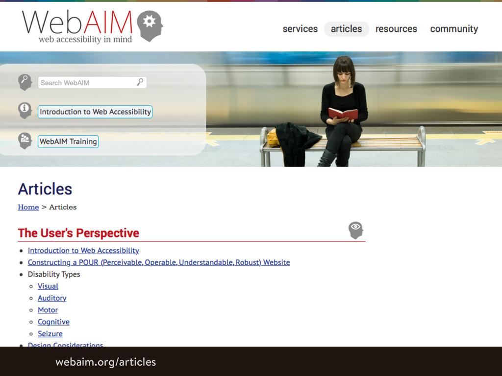 webaim.org/articles