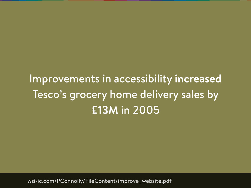 Improvements in accessibility increased Tesco's...