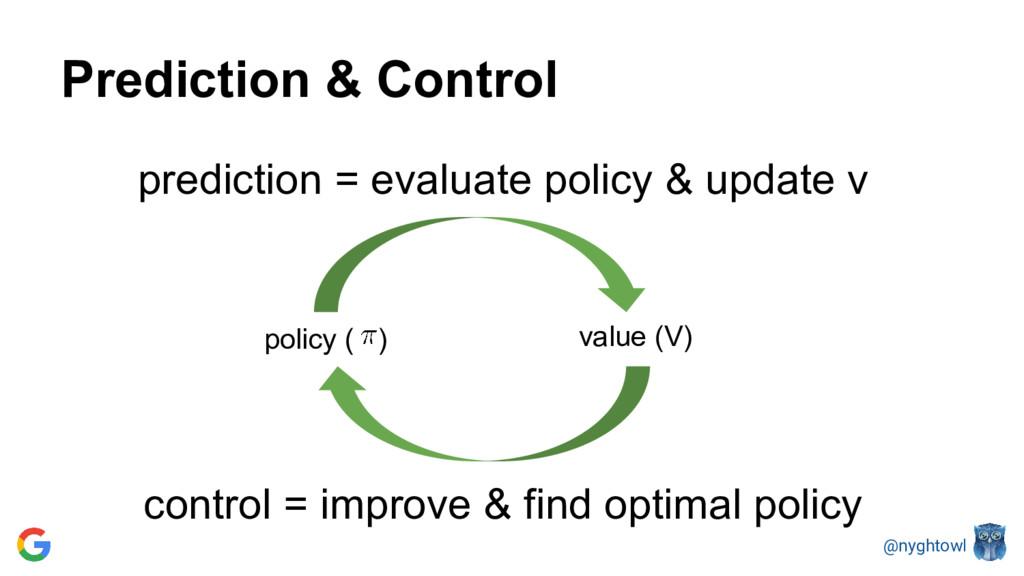 @nyghtowl Prediction & Control policy ( ) predi...